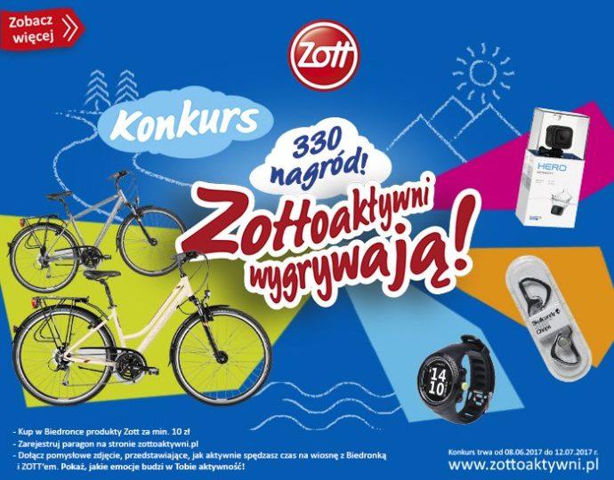 Konkurs Biedronka i Zott, wygraj rower.