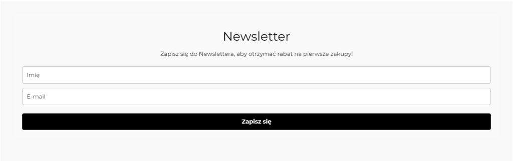 Newsletter sklepu Oddajplecaka.pl