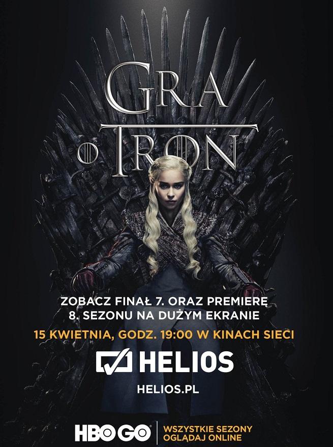 Premiera 8 sezonu Gry o Tron w kinach Helios