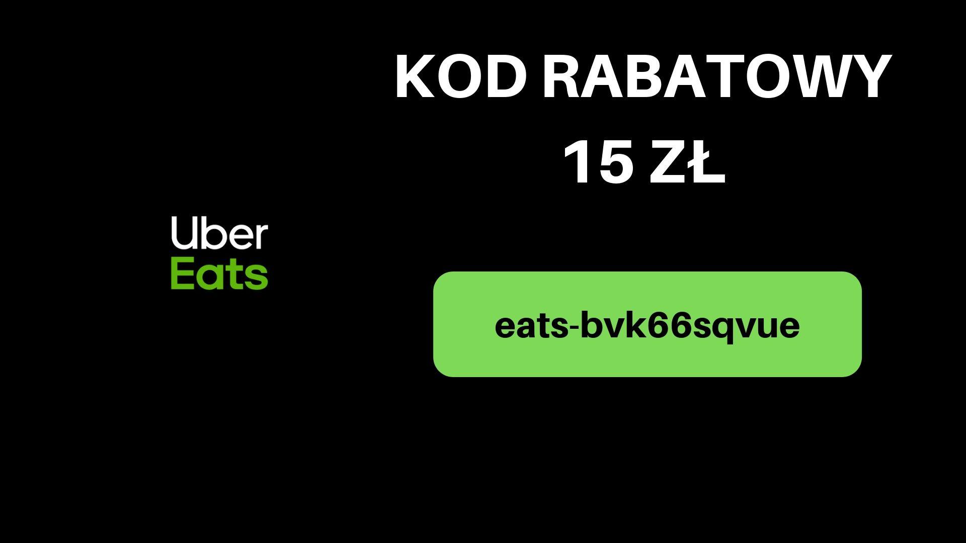 Kod rabatowy uber eats